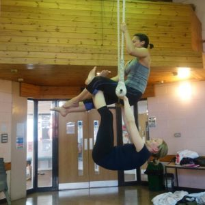Adult aerial trapeze