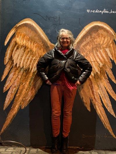 Deborah with golden wings