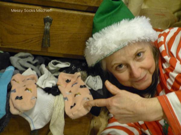 Messy socks mischief