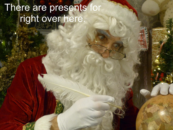 There are presents for right over here